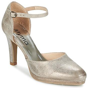 Schuhe Damen Sandalen / Sandaletten Myma LUBBO Mettalfarben