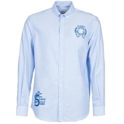 Abbigliamento Uomo Camicie maniche lunghe Serge Blanco ANTONIO Blu