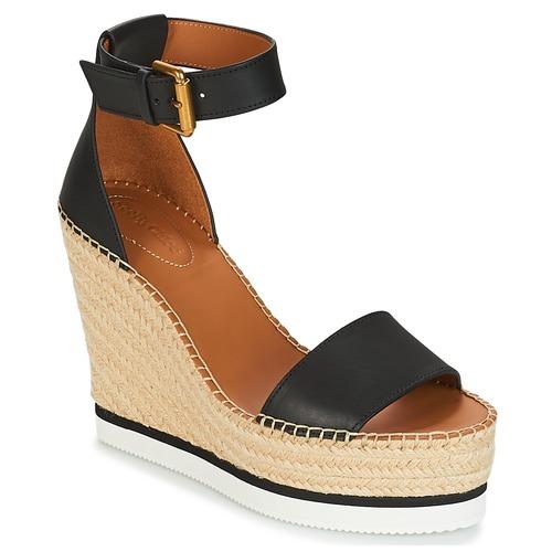 Chaussures Femme Espadrilles See by Chloé SB26152 Noir / Blanc