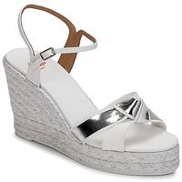 Schuhe Damen Sandalen / Sandaletten Castaner BESSIE Weiß / Silber