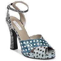 Schuhe Damen Sandalen / Sandaletten Marc Jacobs Elap Blau / Weiss