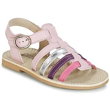 Chaussures Fille Sandales et Nu-pieds Citrouille et Compagnie RAINA Rose / Violet