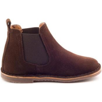Chaussures Garçon Boots Boni & Sidonie Boots à enfiler en daim - BENOIT Marron