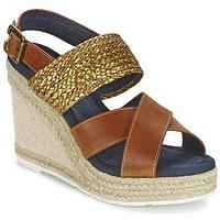 Schuhe Damen Sandalen / Sandaletten Napapijri BELLE Camel / Goldfarben