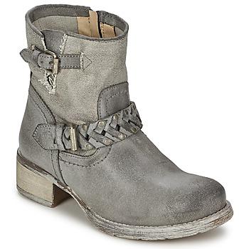 Chaussures Femme Boots Café Noir Boogry Gris