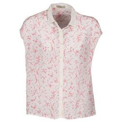 Kleidung Damen Kurzärmelige Hemden Lola CANYON Weiss / Rot