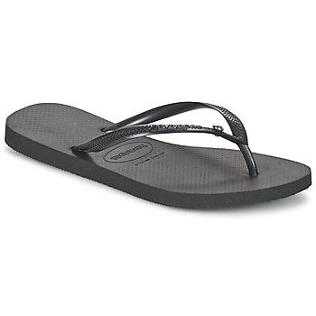Schuhe Damen Zehensandalen Havaianas SLIM CRYSTAL GLAMOUR SWAROVSKI Schwarz