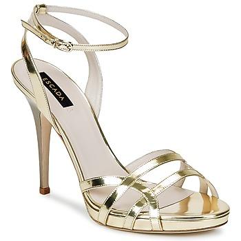 Schuhe Damen Sandalen / Sandaletten Escada AS683 Gold