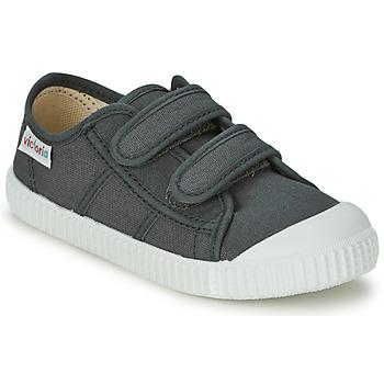 Scarpe Unisex bambino Sneakers basse Victoria BLUCHER LONA DOS VELCROS Antracite