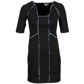 Abbigliamento Donna Abiti corti Manoukian 613369 Nero