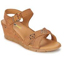 Schuhe Damen Sandalen / Sandaletten Manas  Kamel