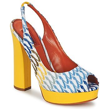 Chaussures Femme Sandales et Nu-pieds Missoni XM005 Jaune / Bleu