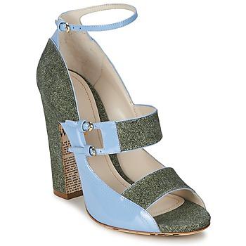 Chaussures Femme Sandales et Nu-pieds John Galliano A54250 Bleu / Vert