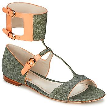 Schuhe Damen Sandalen / Sandaletten John Galliano A65970 Grün / Beige