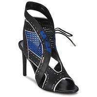 Schuhe Damen Sandalen / Sandaletten Roberto Cavalli XPS254-PZ448 Schwarz / Blau
