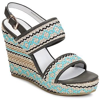 Chaussures Femme Sandales et Nu-pieds Café Noir JABALA Carbone / Turquoise