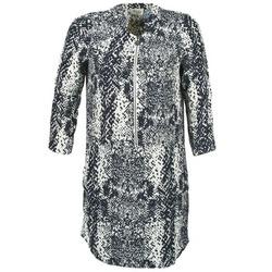 Kleidung Damen Kurze Kleider Stella Forest EDERI Marineblau / Weiß