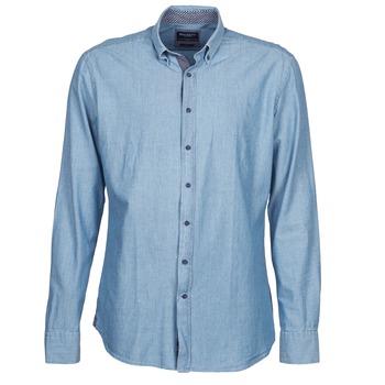 Abbigliamento Uomo Camicie maniche lunghe Hackett RILEY Blu