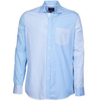 Kleidung Herren Langärmelige Hemden Hackett GORDON Blau