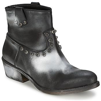 Schuhe Damen Boots Strategia SFUGGO Schwarz / Silbern