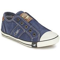 Schuhe Jungen Sneaker Low Mustang SHAYAN Blau