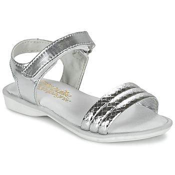 Schuhe Mädchen Sandalen / Sandaletten Citrouille et Compagnie GOSAGOLA Silber