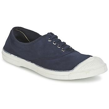 Schuhe Damen Sneaker Low Bensimon TENNIS LACET Marineblau