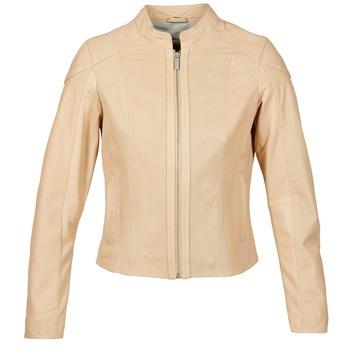 Kleidung Damen Lederjacken / Kunstlederjacken Oakwood 61848 Beige