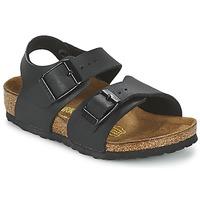 Schuhe Jungen Sandalen / Sandaletten Birkenstock NEW YORK Schwarz