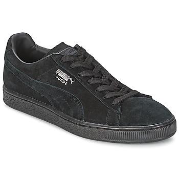 Chaussures Baskets basses Puma SUEDE CLASSIC + Noir / Gris