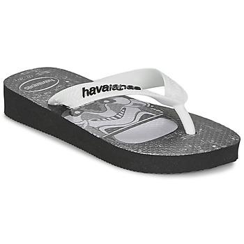 Chaussures Garçon Tongs Havaianas STAR WARS Noir / Blanc