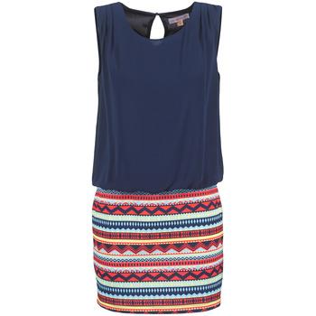 Kleidung Damen Kurze Kleider Moony Mood IEVELI Marineblau