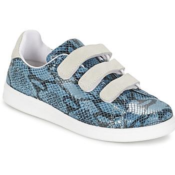 Chaussures Femme Baskets basses Yurban ETOUNATE Bleu Jeans