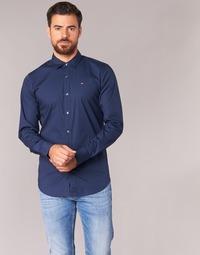 Vêtements Homme Chemises manches longues Tommy Jeans TJM Original Stretch Shirt Marine