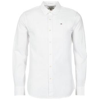 Kleidung Herren Langärmelige Hemden Tommy Jeans KANTERMI Weiss