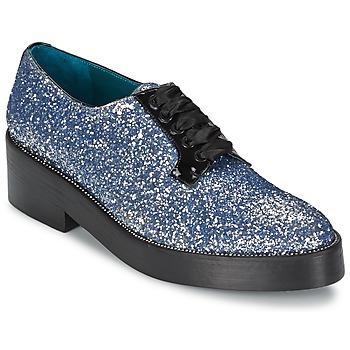 Schuhe Damen Derby-Schuhe Sonia Rykiel 676318 Blau / Silber
