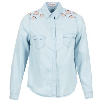 Kleidung Damen Hemden Yurban EGUATOULE Blau / Hell