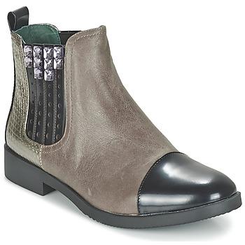 Chaussures Femme Boots Café Noir BARBERINE Taupe