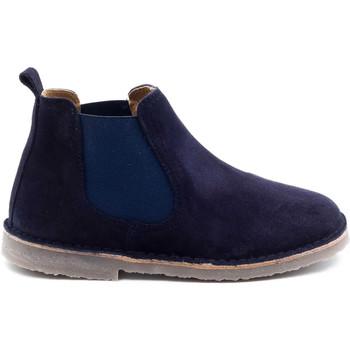 Chaussures Enfant Boots Boni & Sidonie Boots à enfiler en daim - BENOIT Bleu Marine
