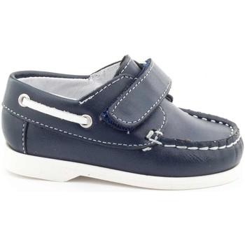 Chaussures Garçon Chaussures bateau Boni & Sidonie Chaussures bateau Mocassins à scratch - MINI BOAT Bleu Marine