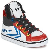 Scarpe Unisex bambino Sneakers alte Feiyue DELTA MID PEANUTS Bianco / Nero / Rosso