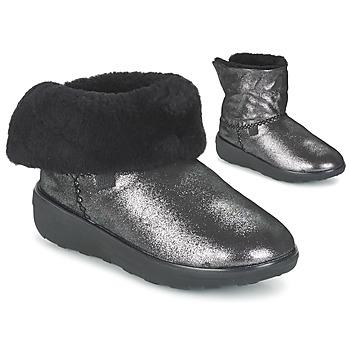 Schuhe Damen Boots FitFlop SUPERCUSH MUKLOAFF SHIMMER Silbern