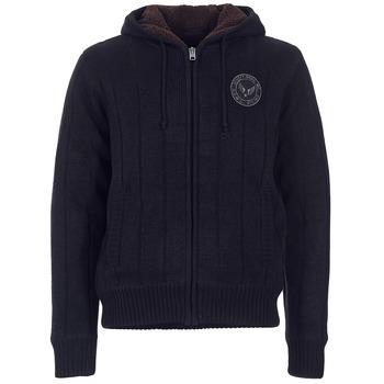 Kleidung Herren Pullover Schott DUNLIN Schwarz