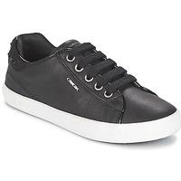 Schuhe Mädchen Sneaker Low Geox KIWI GIRL Schwarz
