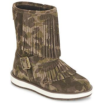 Schuhe Mädchen Boots Geox NOHA Grün