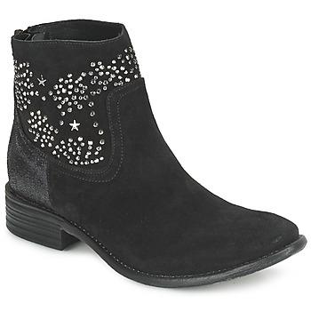 Chaussures Femme Bottines Meline VELOURS STARTER Noir