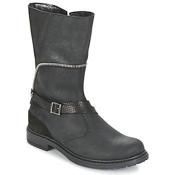 Chaussures Fille Bottes ville Ikks FLORA Noir