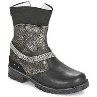 Chaussures Fille Boots Ikks ROBERTA Noir / Gris