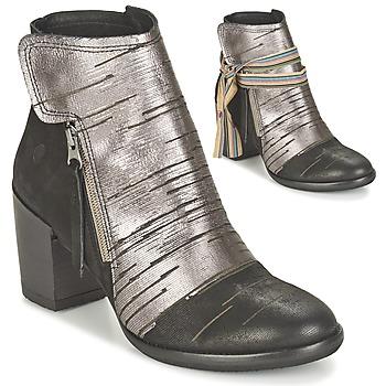 Chaussures Femme Bottines Felmini CARMEN Noir / Argenté