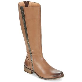 Chaussures Femme Bottes ville Kickers LONGBOTTE Marron / Doré